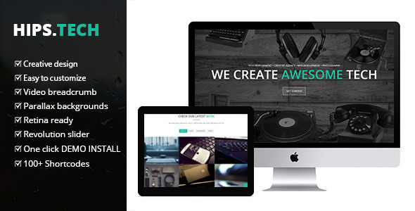 Hipstech – One Page Multi Layer Parallax Theme