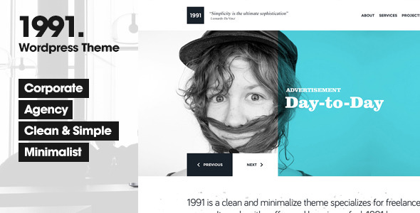 1991 – Creative WordPress Theme