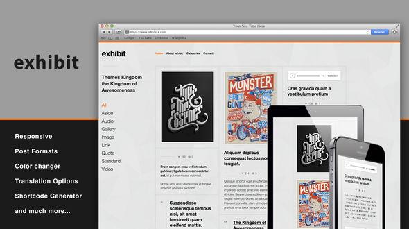 Exhibit – Responsive WordPress Theme