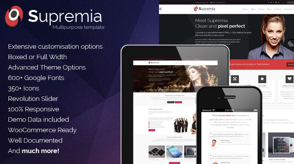 Supremia Responsive WordPress Theme