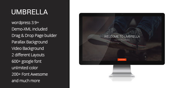Umbrella – One Page WP theme