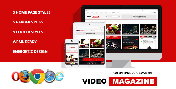 Video Magazine – WordPress Magazine Theme