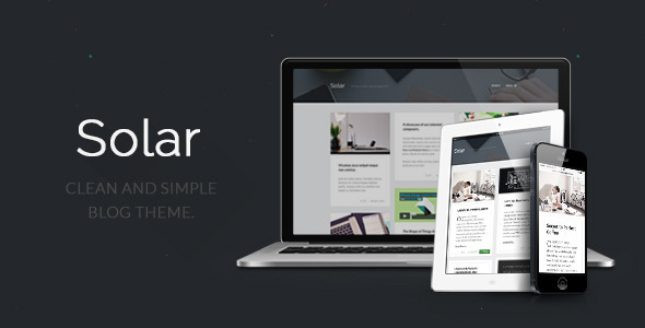 Solar – Responsive Blog Theme