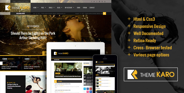 Karo – Magazine WordPress theme