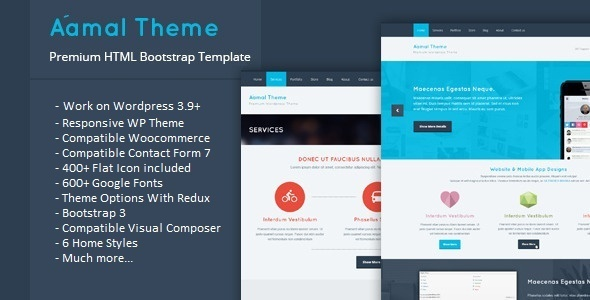 Aamal – Responsive Multipurpose WordPress Theme