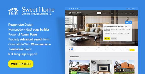 Sweethome – Responsive Real Estate WordPress Theme