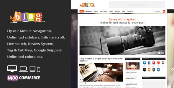 Bblog = Blog / Magazine WordPress Theme