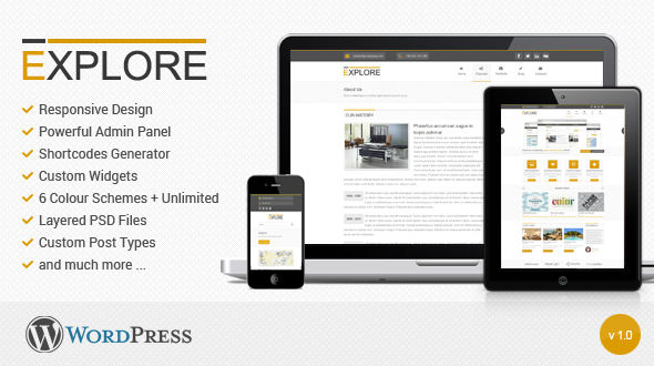 Explore – Responsive WordPress Theme