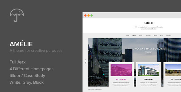 Amelie – WP Theme for Creatives & Photographers