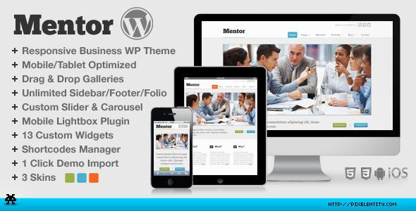 Mentor – Premium Responsive HTML5 WordPress Theme
