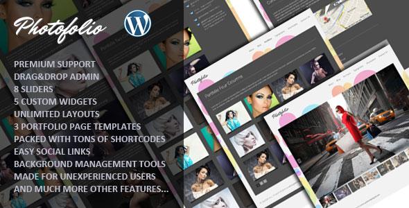 Photofolio Photography WordPress theme