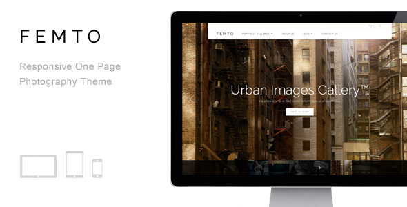 Femto – Responsive One Page Photography Theme