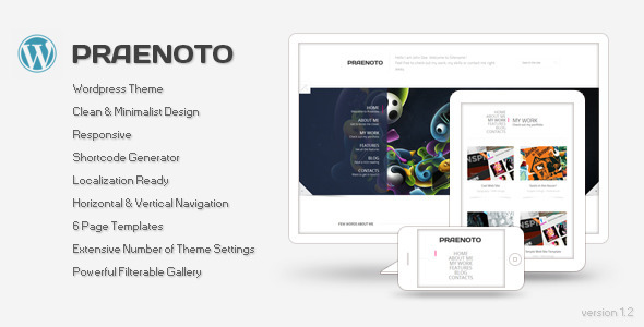 Praenoto – Clean & Minimalist WordPress Theme