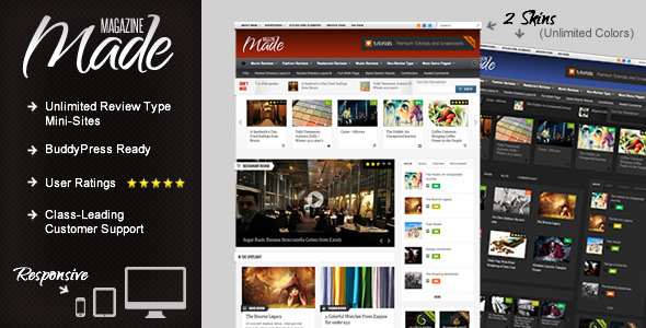 Made – Responsive Review/Magazine Theme