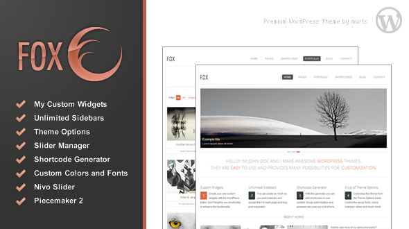 Fox – A fully customizable WordPress theme