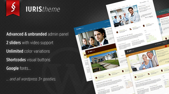 Iuris – WordPress Theme for Lawyers & small/medium Firms