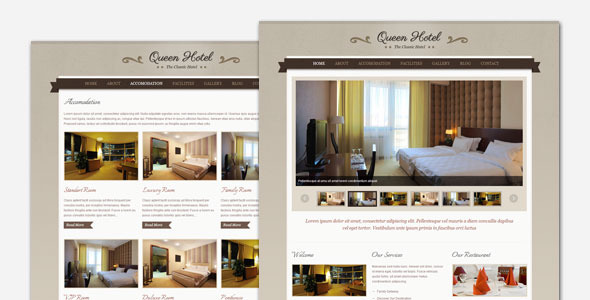 Queen Hotel – Classic and Elegant WordPress Theme