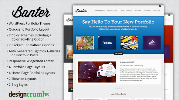 Banter – Portfolio and Business WordPress Theme