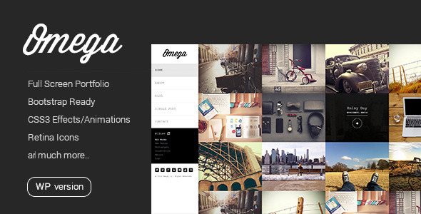Omega – Minimal WordPress Theme
