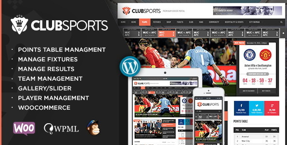 Club Sports – Events and Sports News Theme
