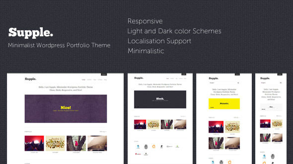 Supple : Minimalist WordPress Portfolio Theme