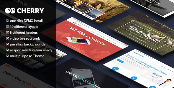 Cherry – A Multipurpose One & Multi Page Theme