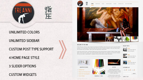 TreAnni – Business WordPress Theme