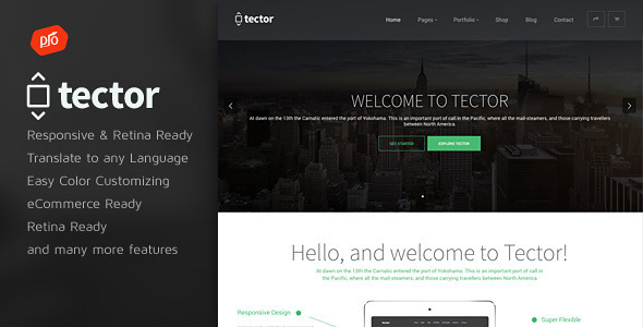 Tector – Muti-Purpose WordPress Theme
