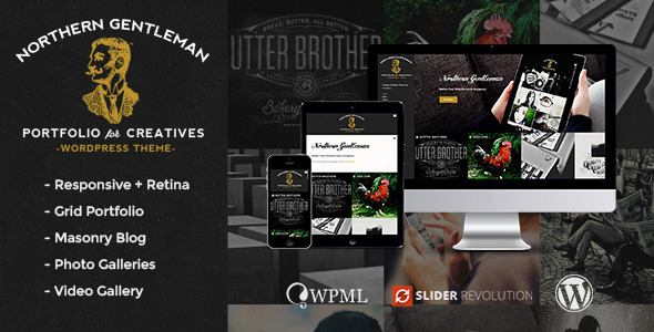 Northern Gentleman – Vintage Portfolio WP Theme