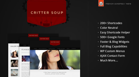 Critter Soup – WordPress Theme