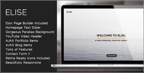Elise – AJAX Powered One Page WordPress Theme