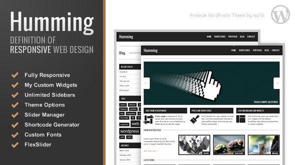 Humming – High responsive WordPress theme