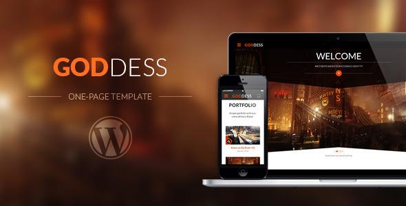 Goddess – Multi Purpose & One Page WordPress Theme