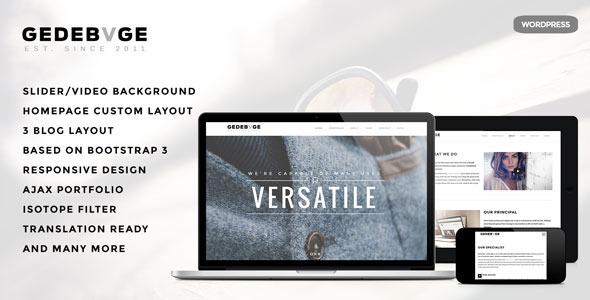 Gedebvge – Responsive One Page Portfolio Theme