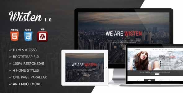 Wisten – WordPress One Page Parallax Theme