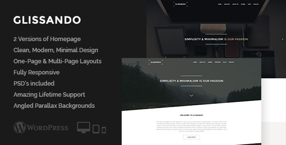 Glissando – Creative One Page Multipurpose Theme