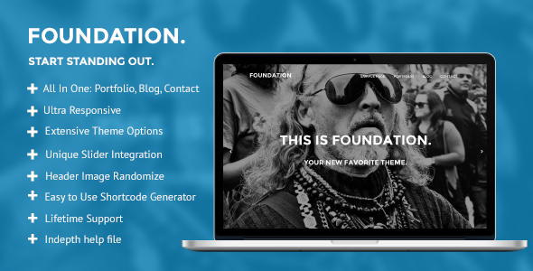 Foundation: Multipurpose WordPress Theme