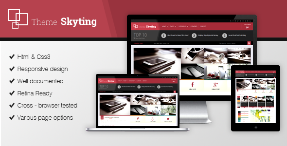 Skyting Magazine WordPress theme