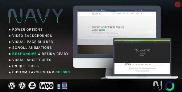 NAVY – Modern WordPress Theme