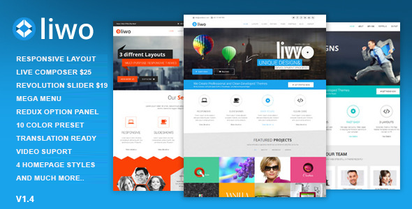 Liwo – MultiPurpose WordPress Theme