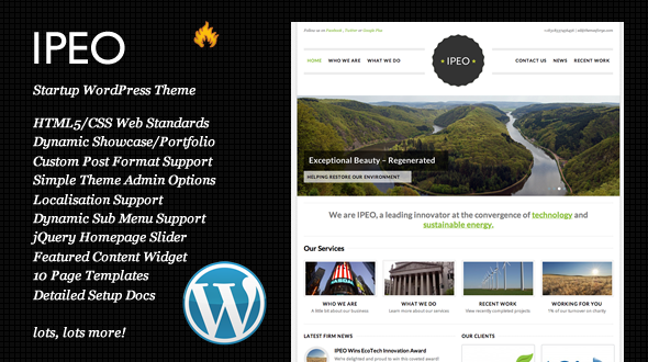 IPEO Startup Business WordPress theme