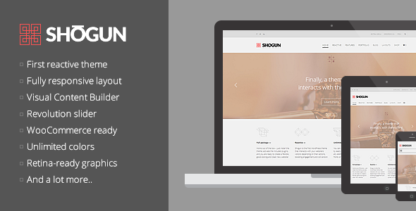 Shogun – the First Reactive WordPress Theme