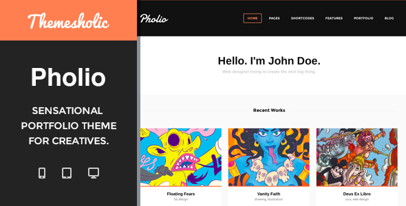 Pholio – Sensational Portfolio Theme For Creative