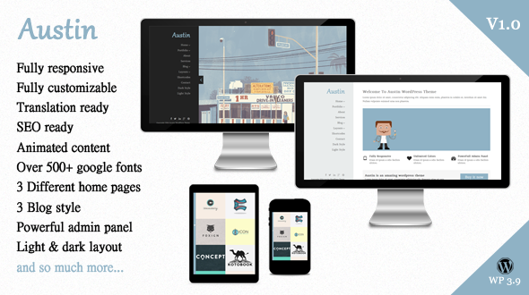 Austin – Creative Multi-Purpose WordPress Theme
