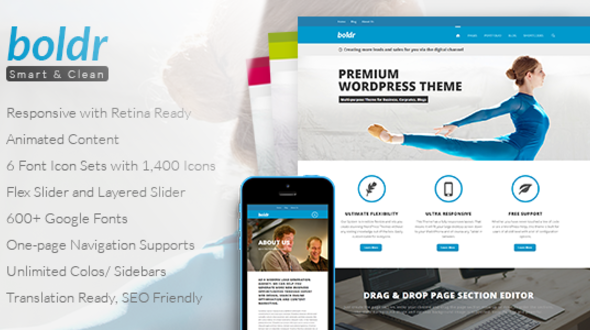 Boldr – Clean Multi-Purpose Responsive Theme