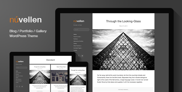 Núvellen: Blog / Portfolio WordPress Theme