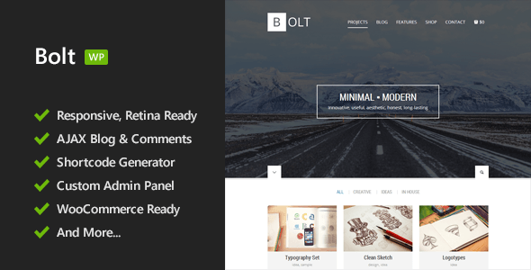 Bolt – Responsive WordPress Theme