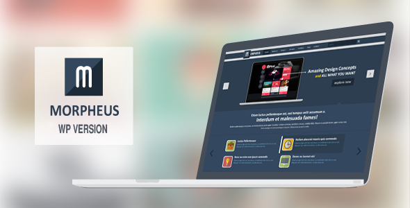 Morpheus Multipage & Onepage WordPress Theme