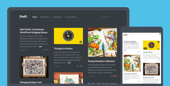 Draft Responsive WordPress Blogging Theme