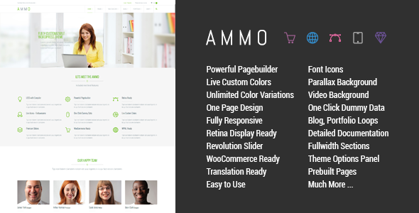 Ammo – Corporate MultiPurpose Theme
